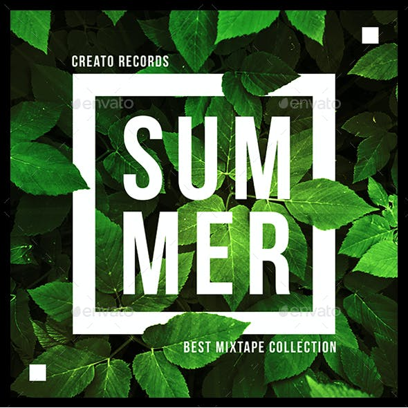 Summer Music Album Cover Artwork Template