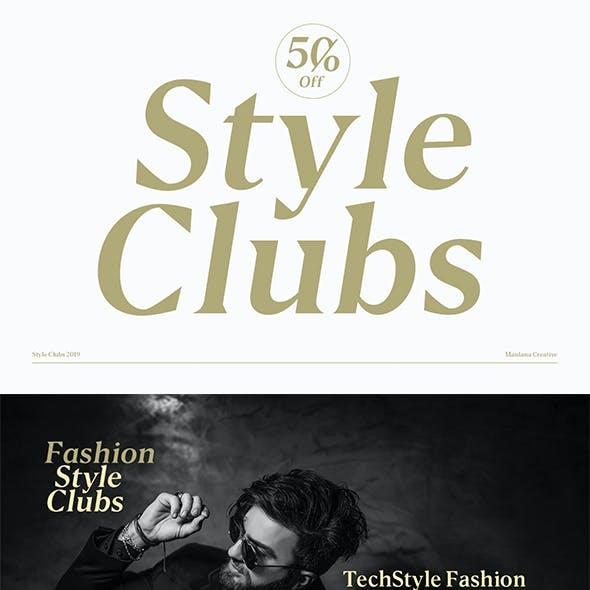Style Clubs Serif
