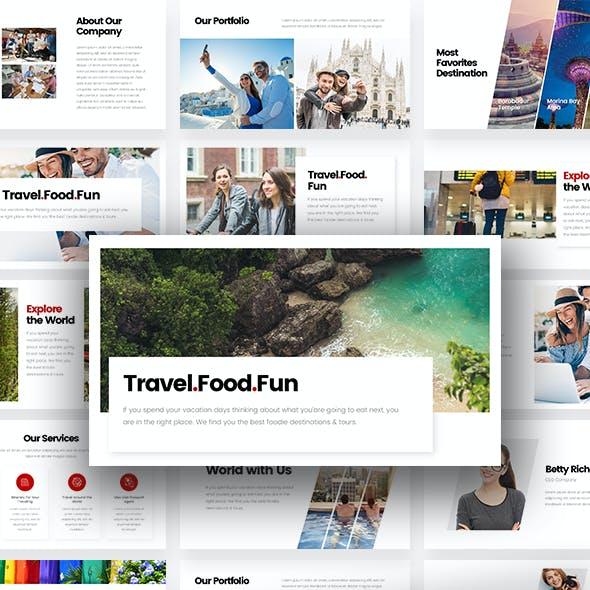 Dolan - Fun Travel Tour PowerPoint Template