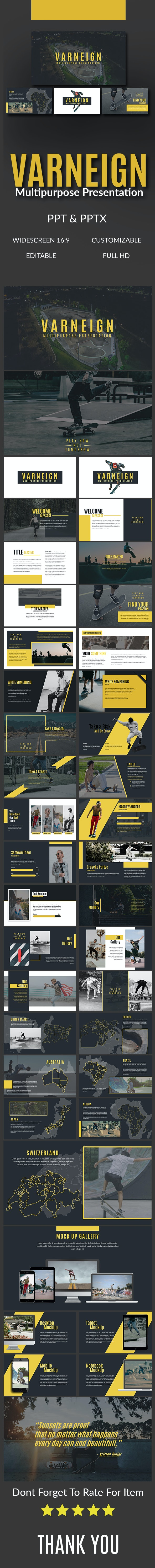 Varneign Multipurpose Presentation - Abstract PowerPoint Templates