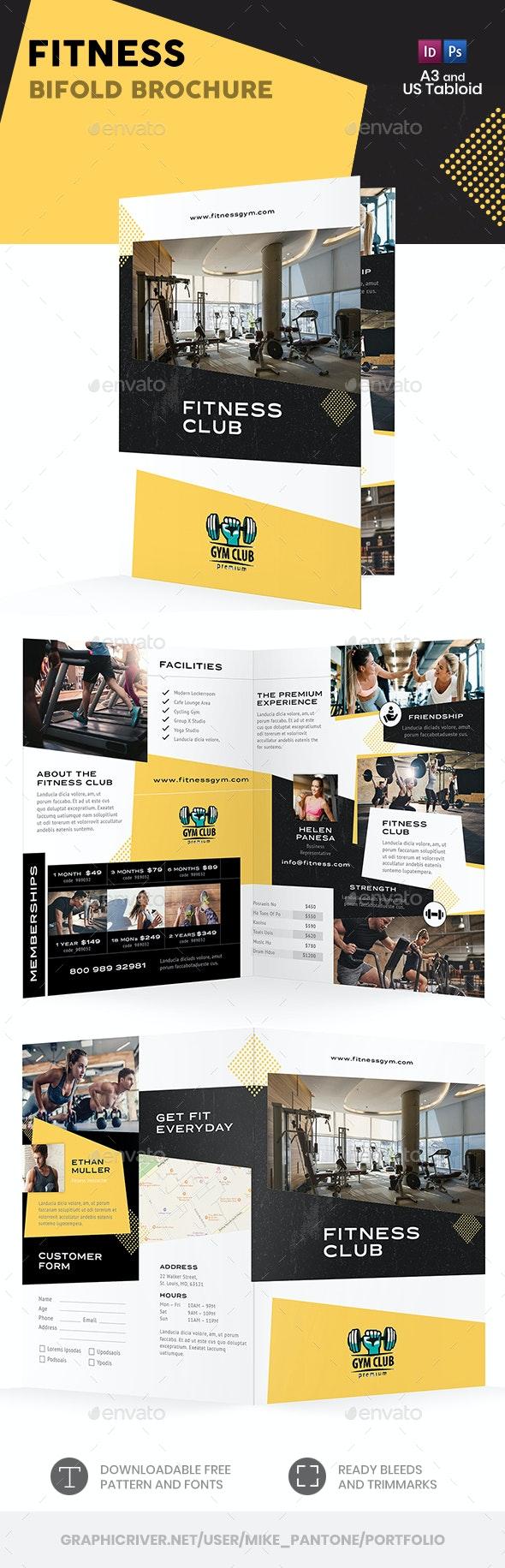 Fitness Bifold / Halffold Brochure - Informational Brochures