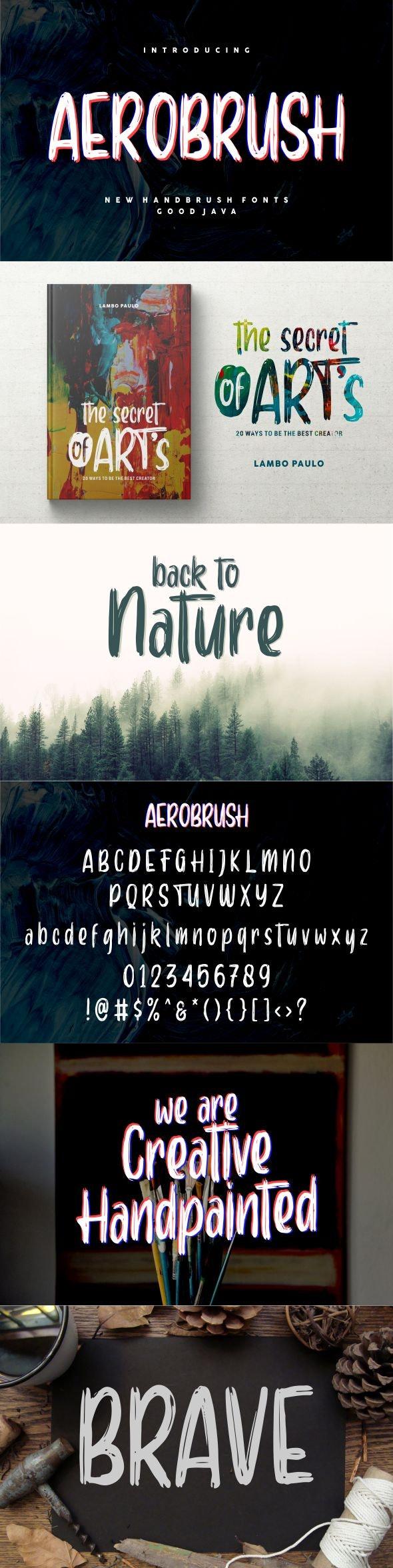 Aerobrush - Handwriting Fonts