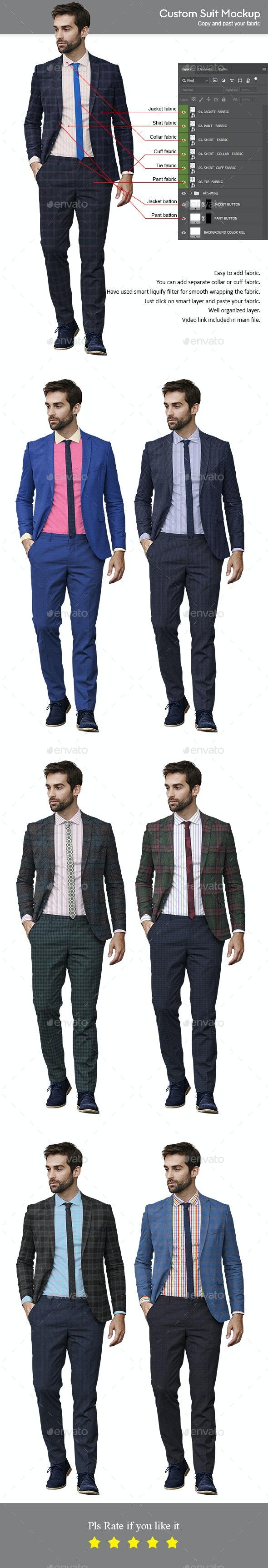 Custom Suit Mockup - Apparel Product Mock-Ups