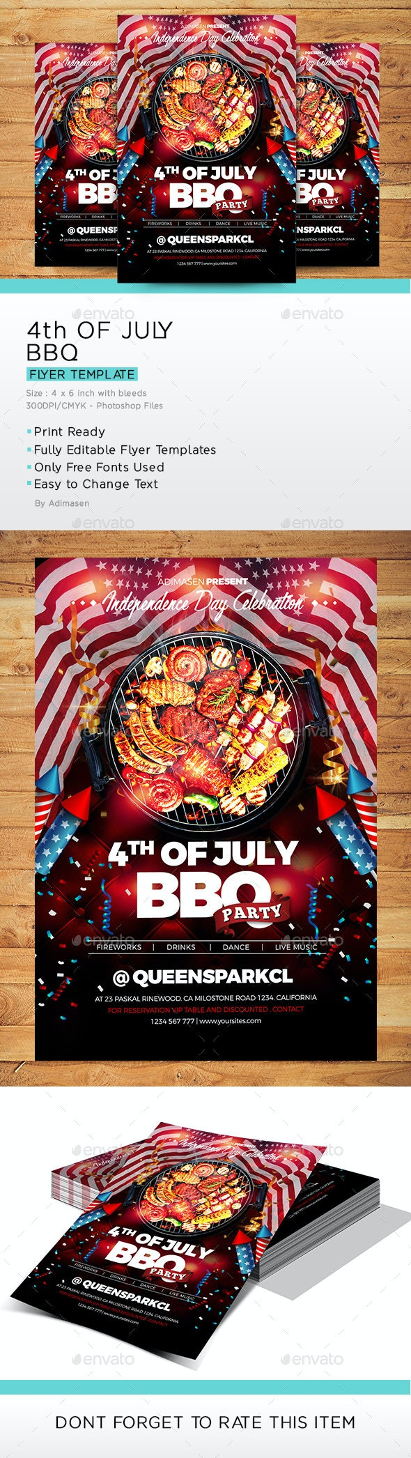 4th OF JULY BBQ Flyer - Events Flyers