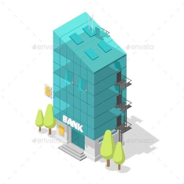 Single Bank Building - Buildings Objects