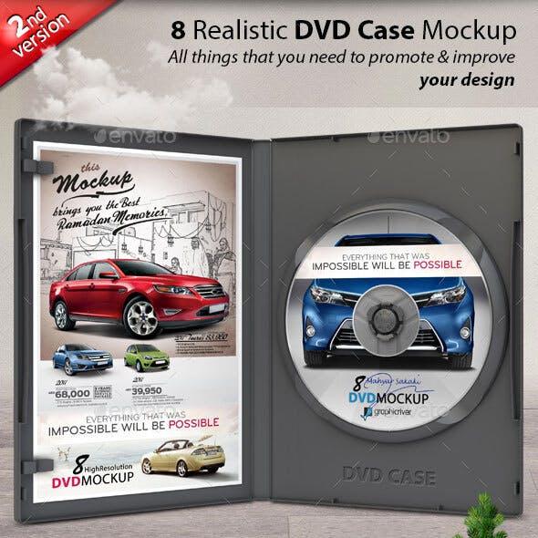 Realistic DVD/CD Case Mockup