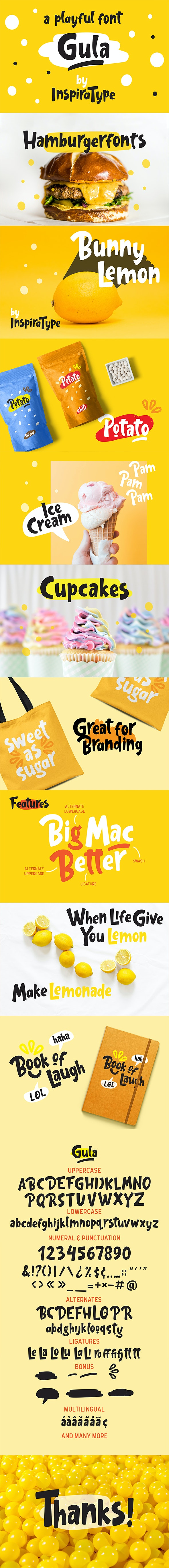 Gula - Playful Font - Fancy Fonts