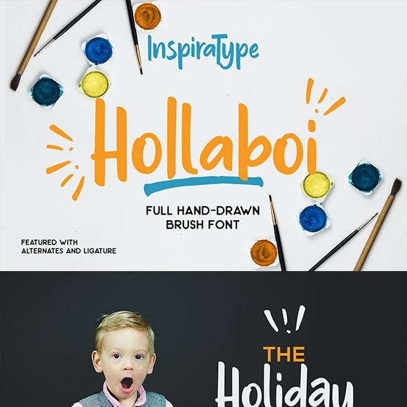 Hollaboi - Hand Drawn Brush Font