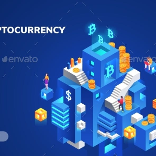 Cryptocurrency and Blockchain Banner