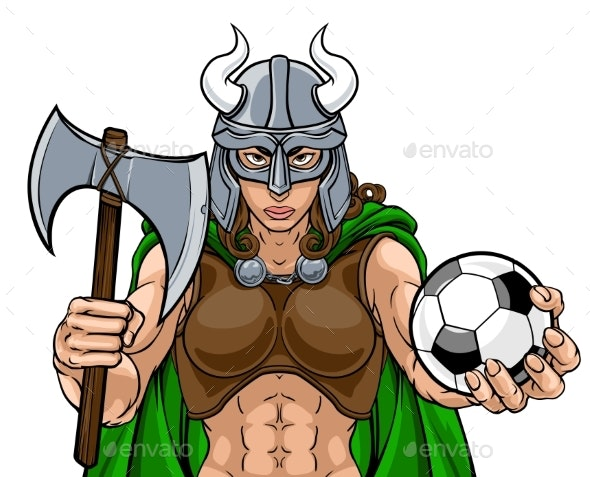 Viking Female Gladiator Soccer Warrior Woman - People Characters