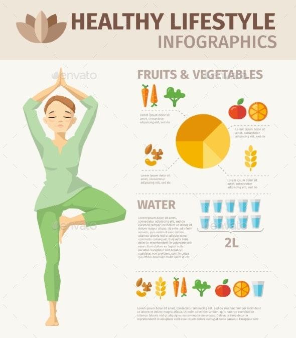 Vector Healthy Lifestyle Design Food Elements - Miscellaneous Vectors