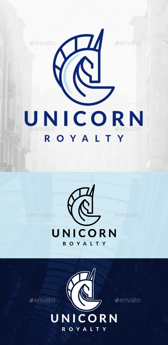 Elegant Unicorn Logo - Animals Logo Templates