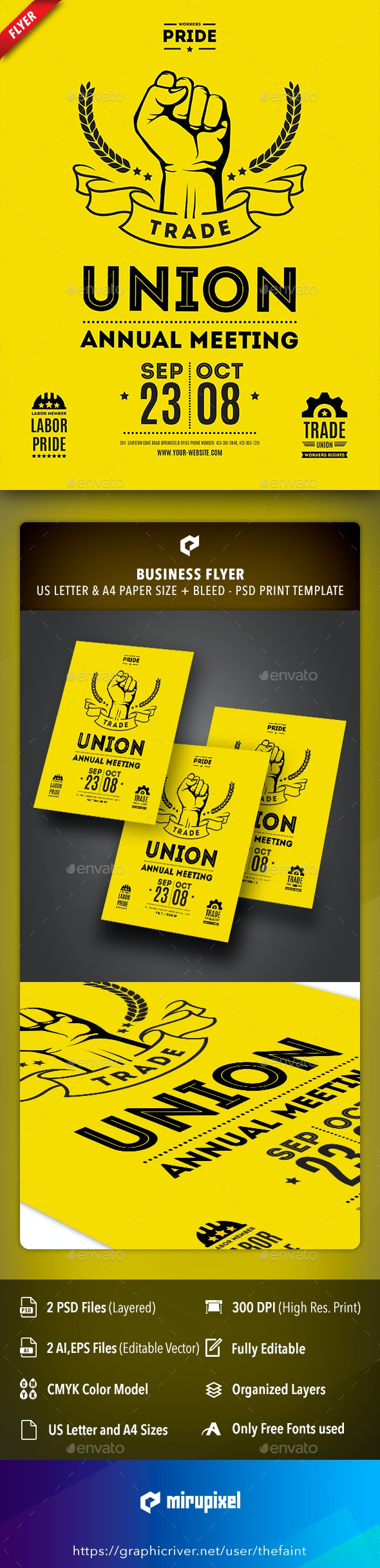 Trade Union Business Flyer - Corporate Flyers