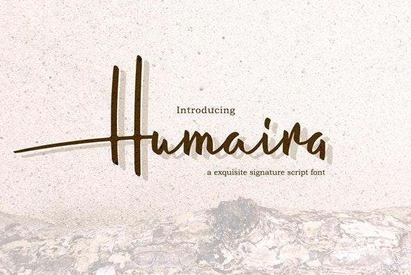 Humaira Script - Hand-writing Script