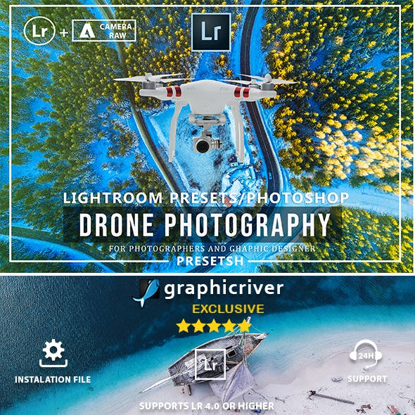 Drone Lightroom Presets & Photoshop