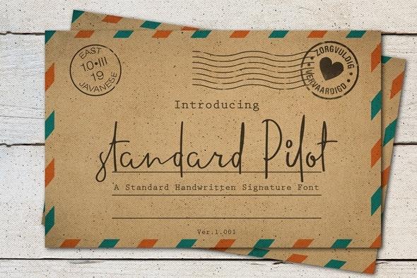Standard Pilot Font - Hand-writing Script