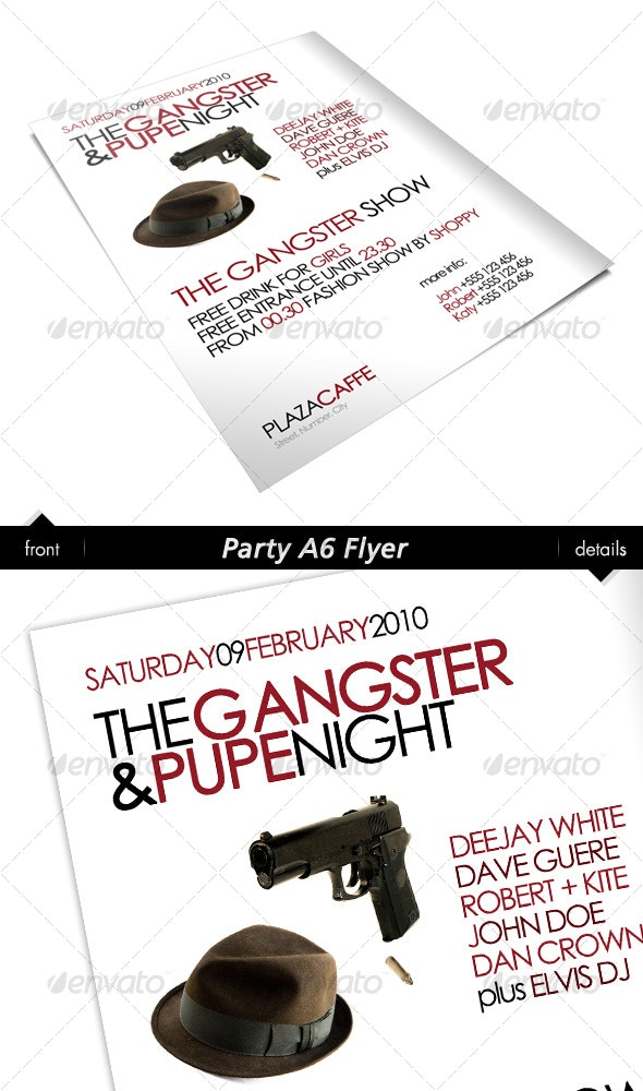 Party A6 Flyer - Clubs & Parties Events
