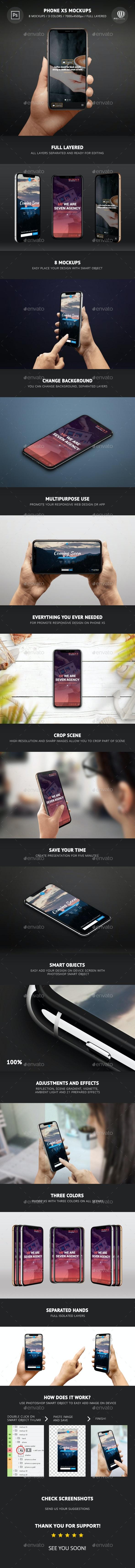 Phone XS Mockups - Mobile Displays