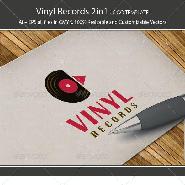 Vinyl Records 2in1 Logo Template