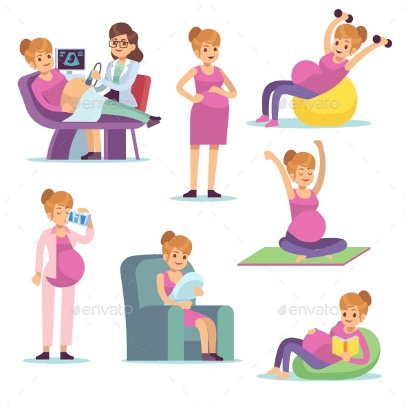 Pregnant Woman - People Characters
