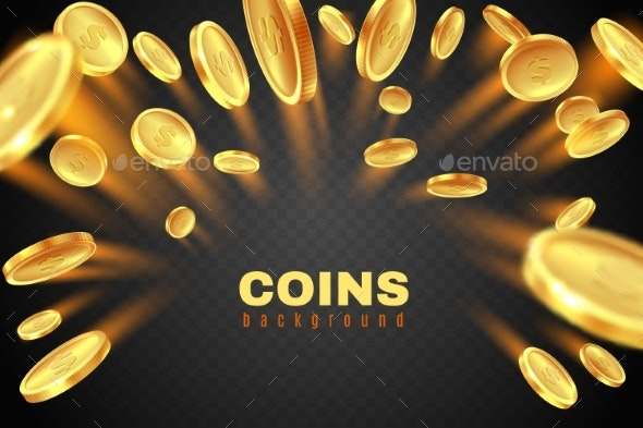 Gold Coin Explosion - Miscellaneous Vectors