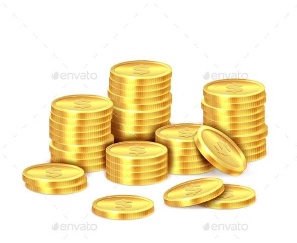 Gold Coins Stack - Miscellaneous Vectors