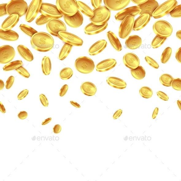 Falling Golden Coins - Backgrounds Business