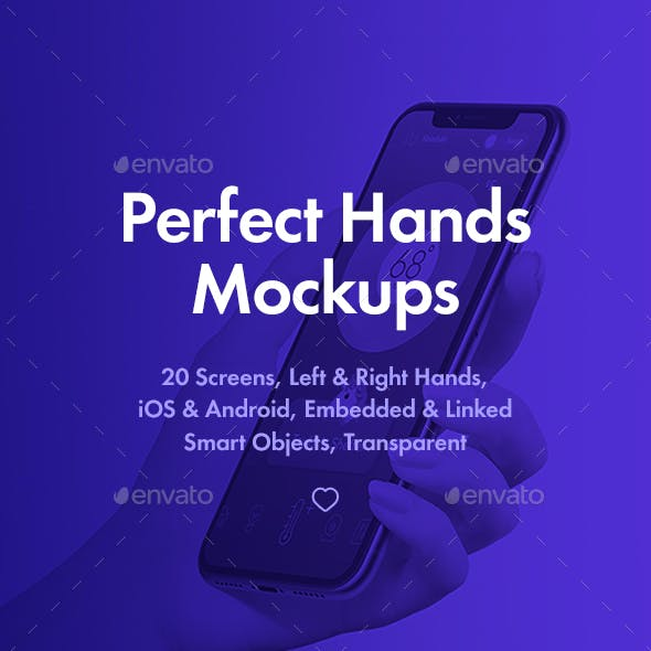 Female Hands Mockups with PhoneX