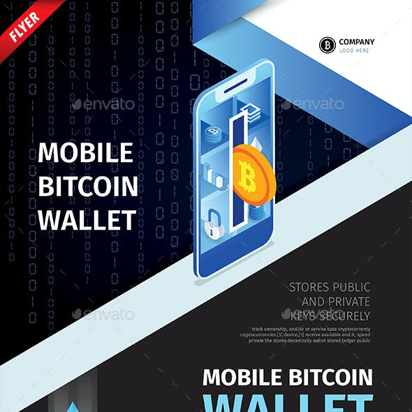 Bitcoin Wallet Business Flyer
