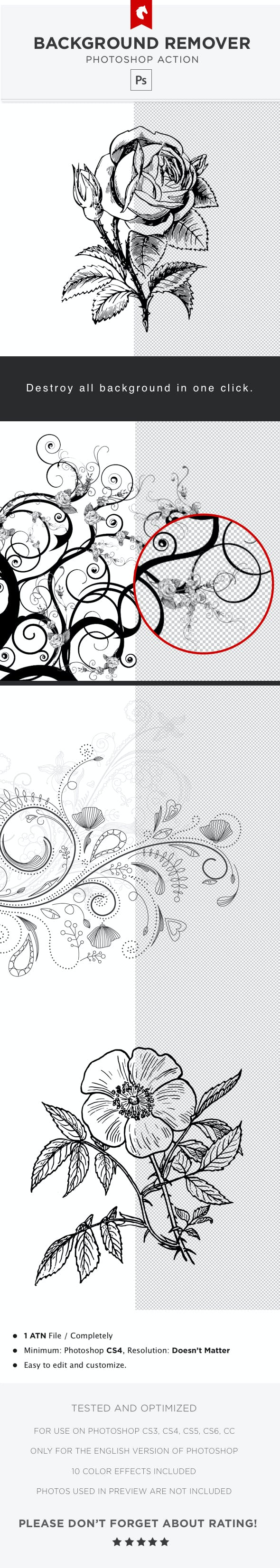 White Background Remover - Photoshop Action