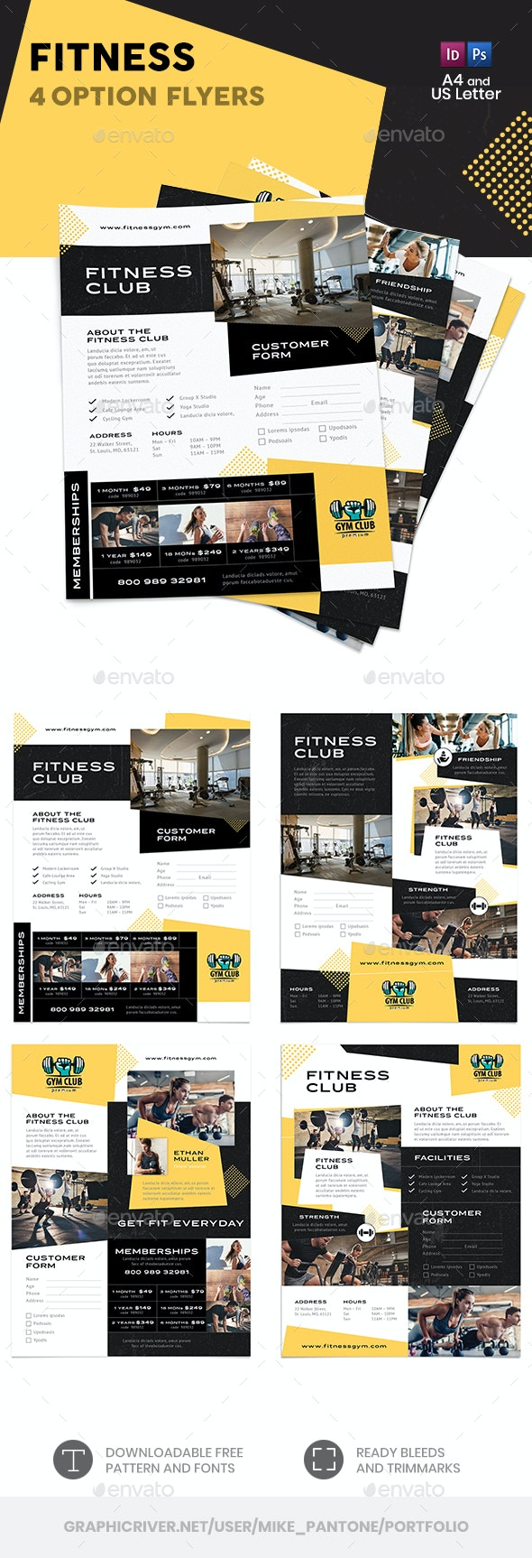 Fitness Flyers – 4 Options - Corporate Flyers