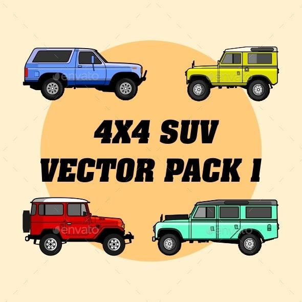 4x4 Off-Road Vehicles - Miscellaneous Vectors