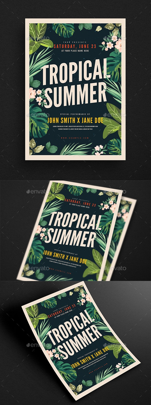 Tropical Summer Party Event Flyer - Flyers Print Templates