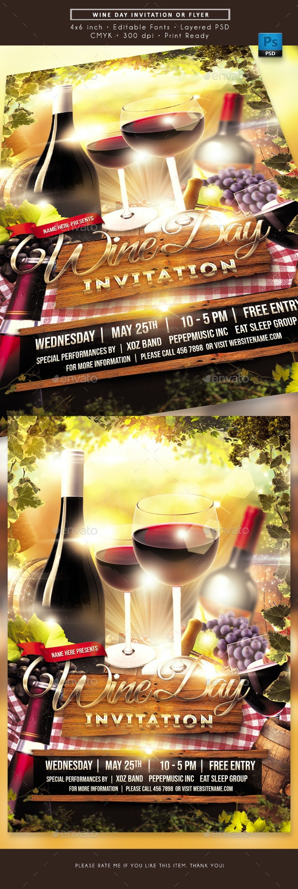 Wine Day Flyer - Miscellaneous Events