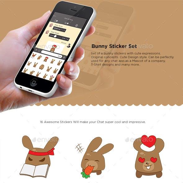 Bunny Sticker Set
