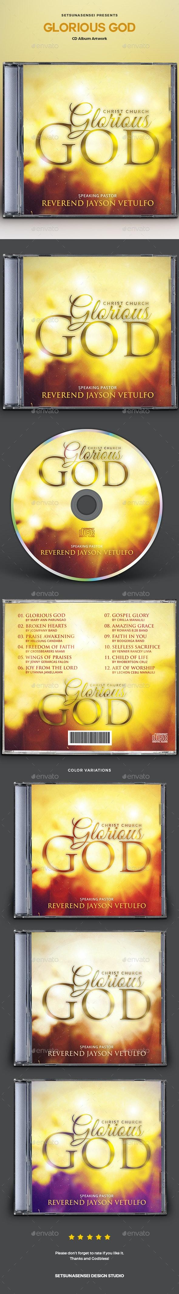 Glorious God CD Album Artwork - CD & DVD Artwork Print Templates