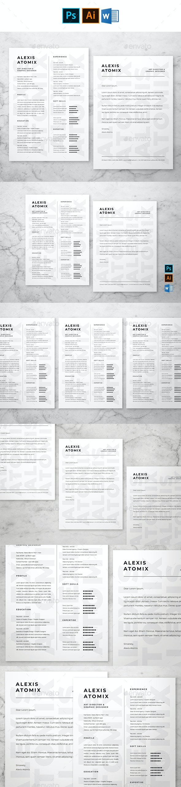 Professional Resume & Cover Letter #2 - Resumes Stationery