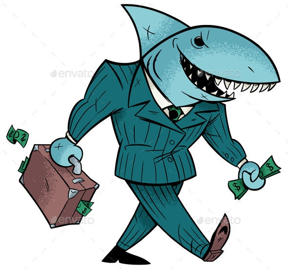 Business Shark Isolated - Concepts Business
