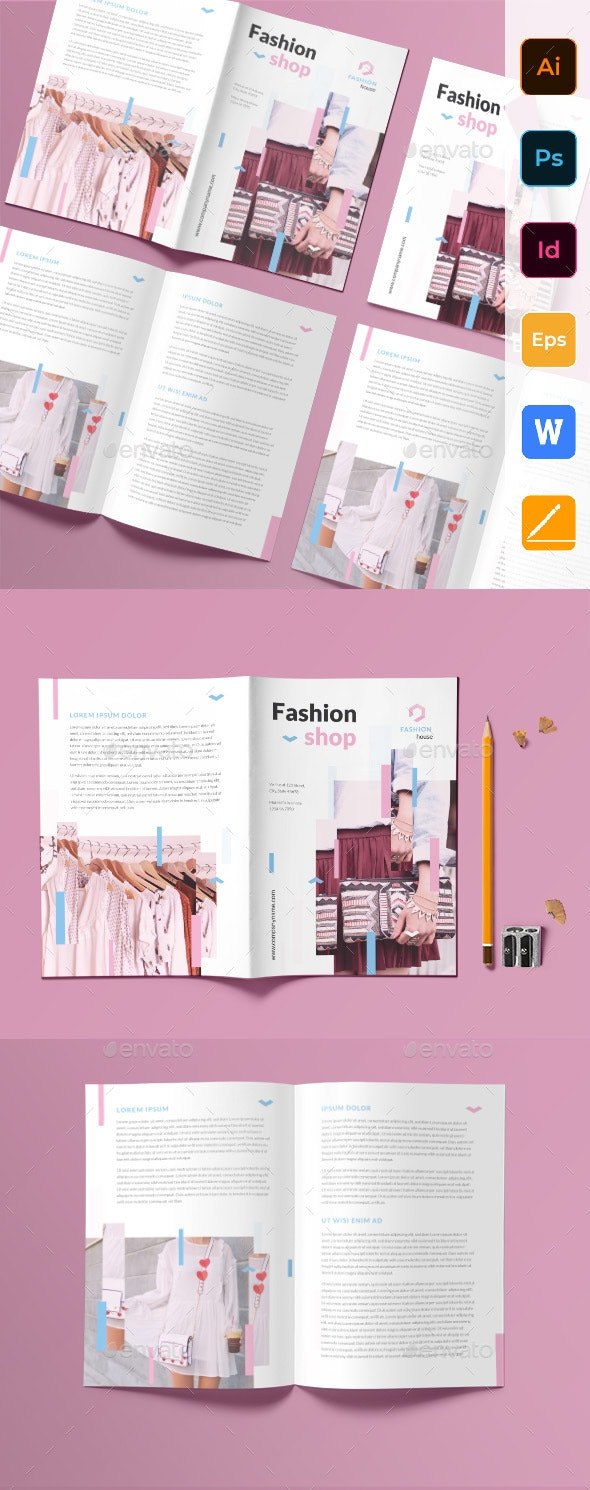 Fashion Shop Bifold Brochure - Corporate Brochures