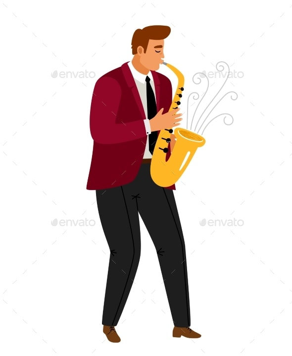 Jazz Music Saxophonist Player - Backgrounds Decorative