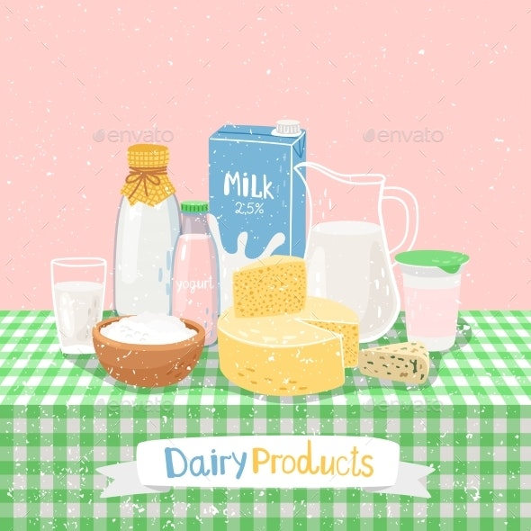 Dairy Products on Table - Food Objects