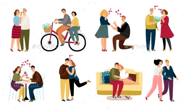 People in Love Set - People Characters