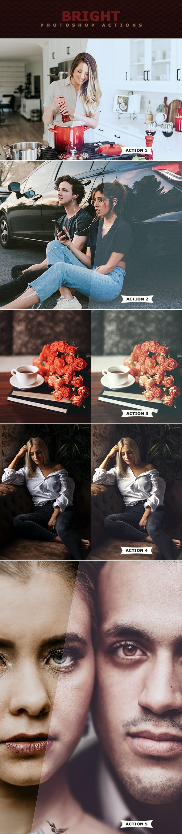 Bright Photoshop Actions - Photo Effects Actions