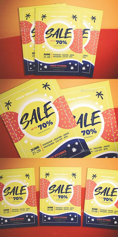 Summer Sale Flyer - Flyers Print Templates