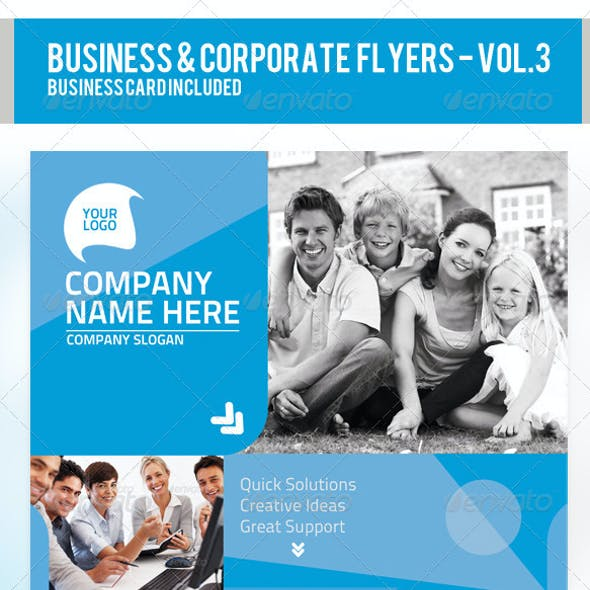 Business & Corporate Flyer PSD Templates Vol-3