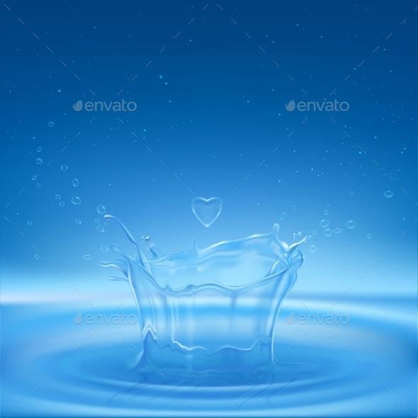 Water Splash - Landscapes Nature