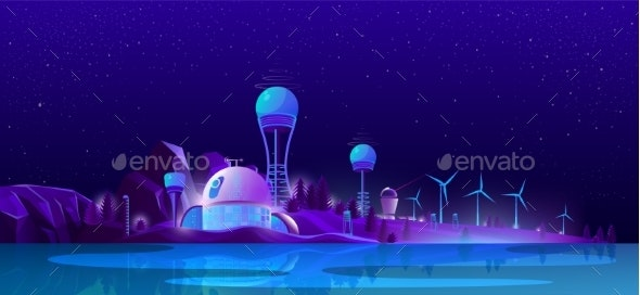 Green Eco City Alternative Clean Energy - Communications Technology