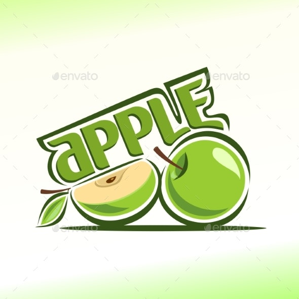 Vector Logo for Apple - Food Objects