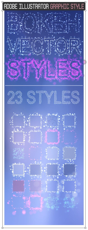 Vector Bokeh Graphic Styles - Styles Illustrator