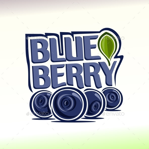 Vector Logo for Blueberry - Food Objects